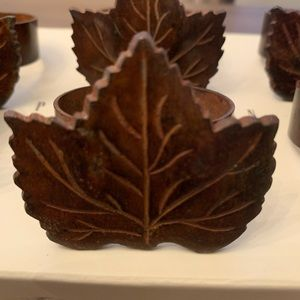 Pottery Barn Maple Leaf Napkin Ring's Set of 6️⃣
